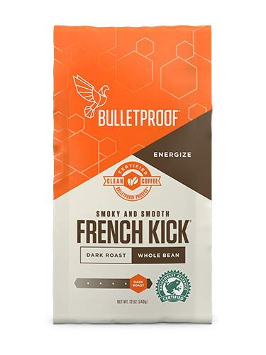 Bulletproof Coffee French Kick, Dark Roast Organic Beans