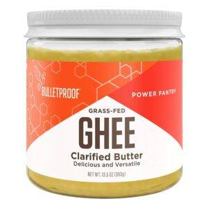 Bulletproof Grass-Fed Ghee, Quality Clarified Butter Fat from Pasture-Raised Cows, Gluten-Free, Non-GMO (13.5 Ounces) Ghee (13.5 oz)