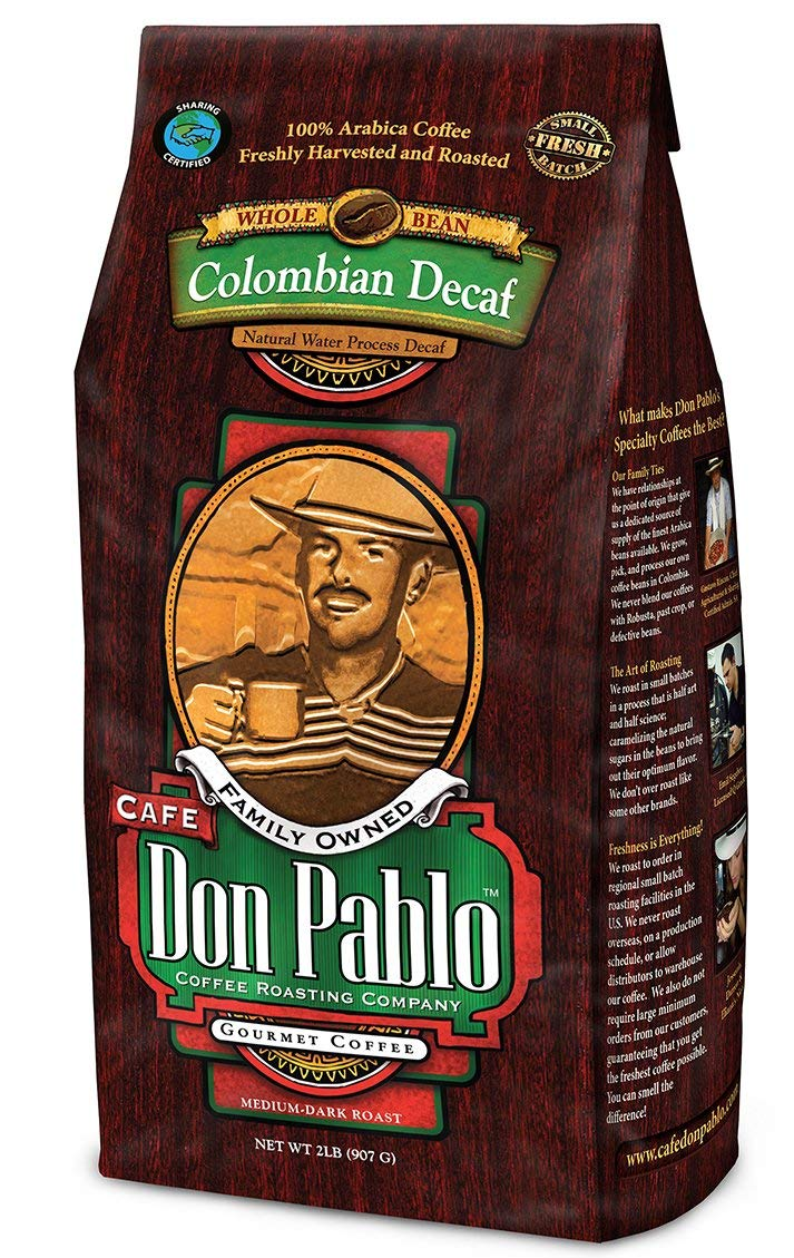 Cafe Don Pablo, Colombian Gourmet Coffee Decaffeinated