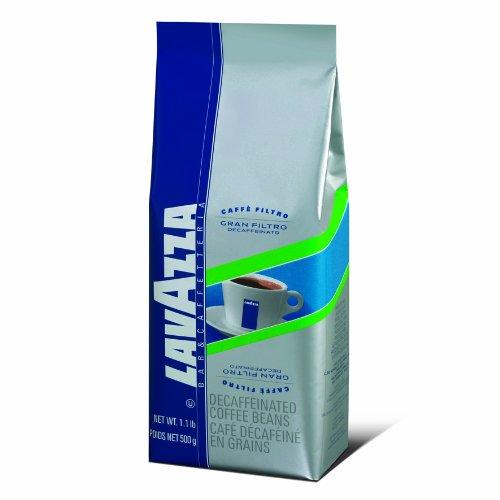 Lavazza Gran Filtro Decaffeinato Whole Bean Coffee Blend,