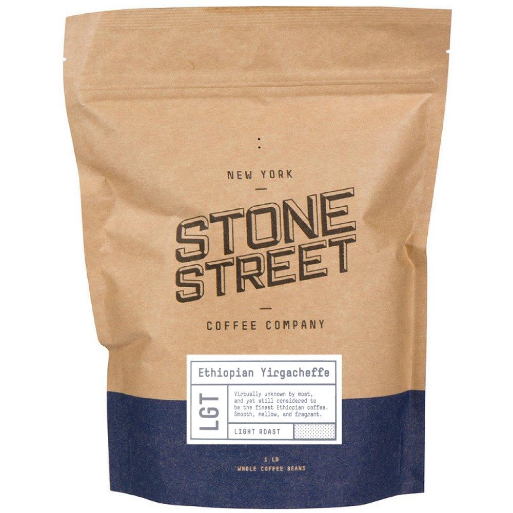 Stone Street Coffee Ethiopian Yirgacheffe Fresh Roasted Coffee, 1 lb Whole Bean