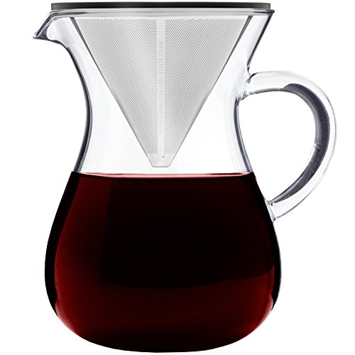 Barista Warrior Pour Over Coffee Maker with Permanent Filter