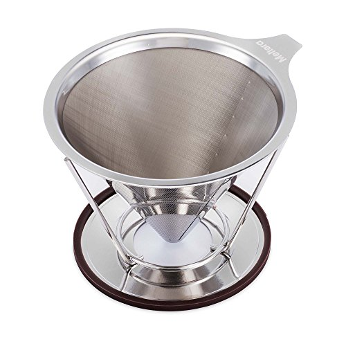 Meltera Stainless Steel Single-Cup Pour Over Coffee Maker