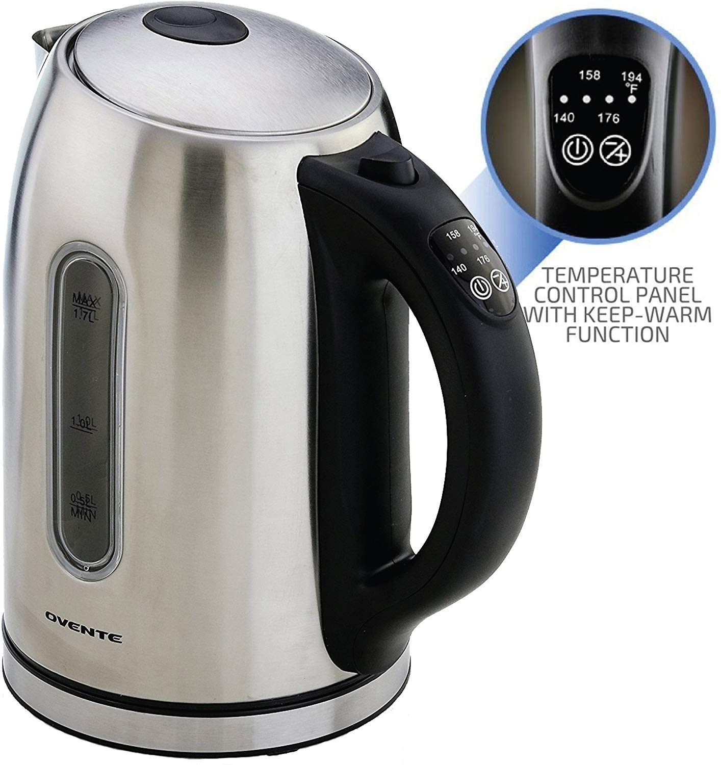 Ovente KS89S Stainless Steel Electric Kettle