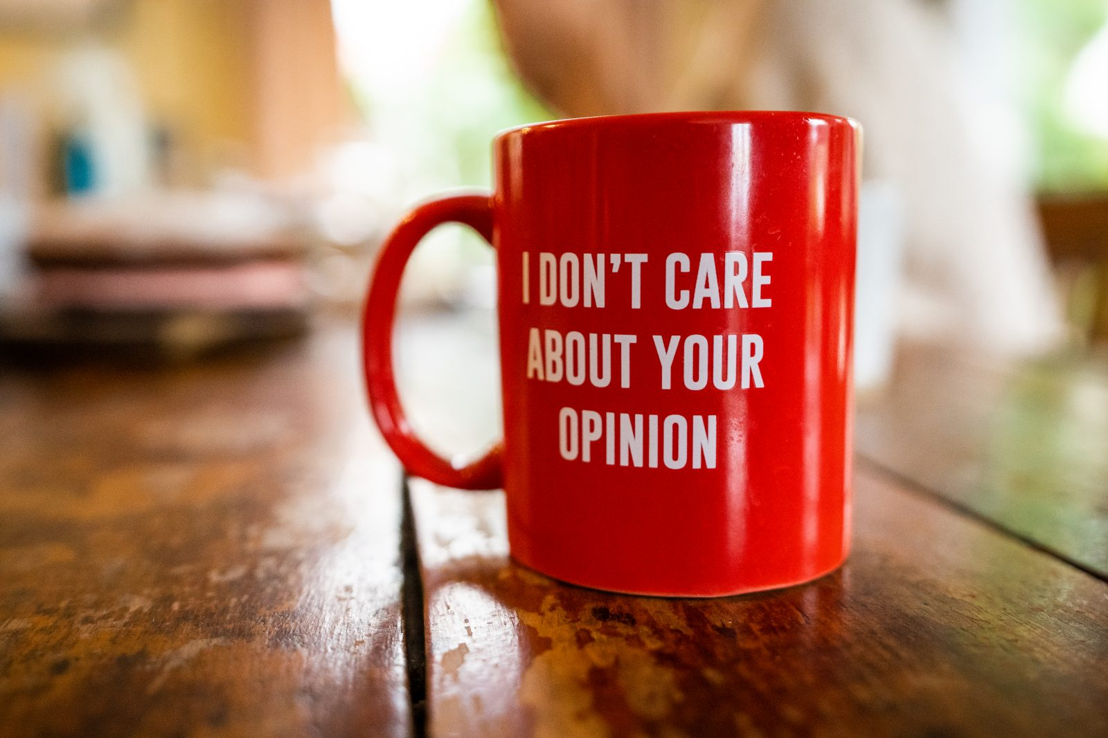 i dont care about your opinion coffee cup