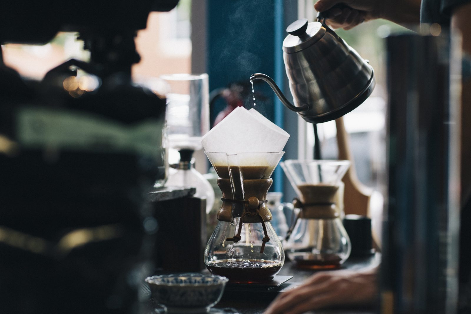 pour over coffeee
