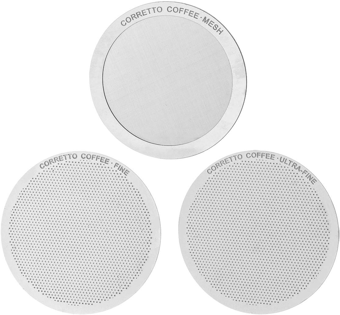 Corretto Stainless Steel Filter Set