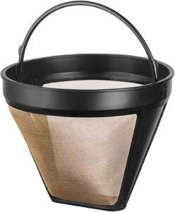 NRP Steel Gold-tone Taller #4 Permanent Coffee Filter 12cup for KRUPS SAVOY & More Coffeemakers