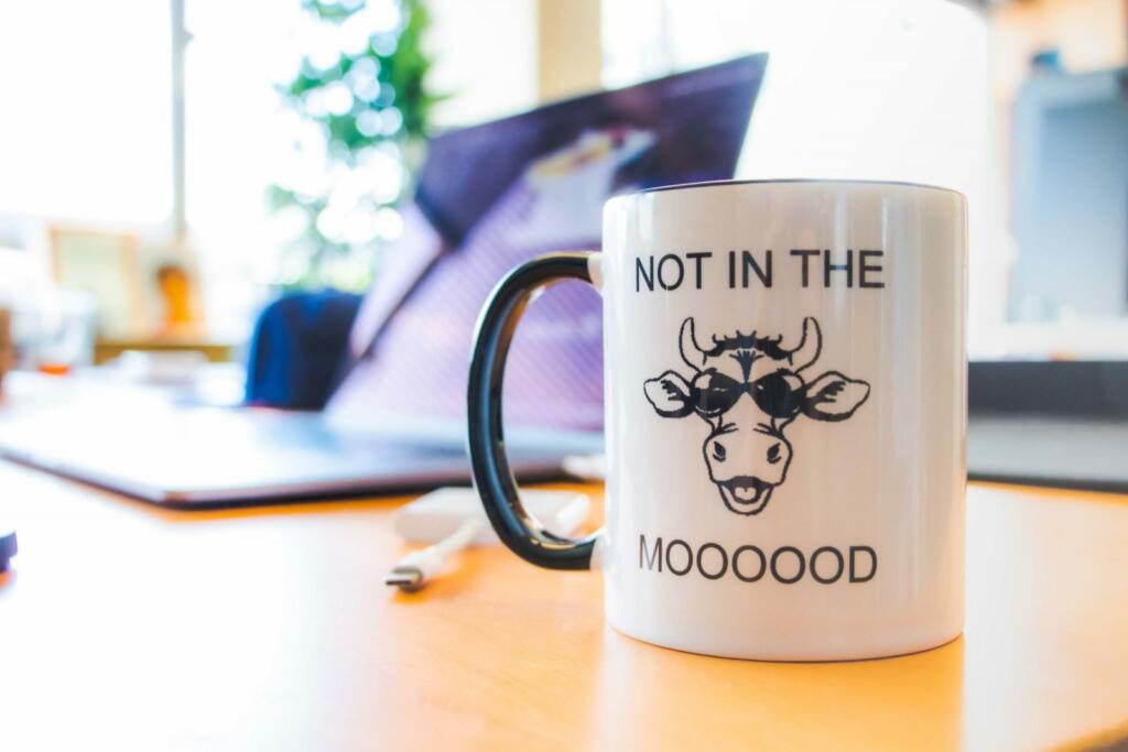 not in the mooooood coffee cup
