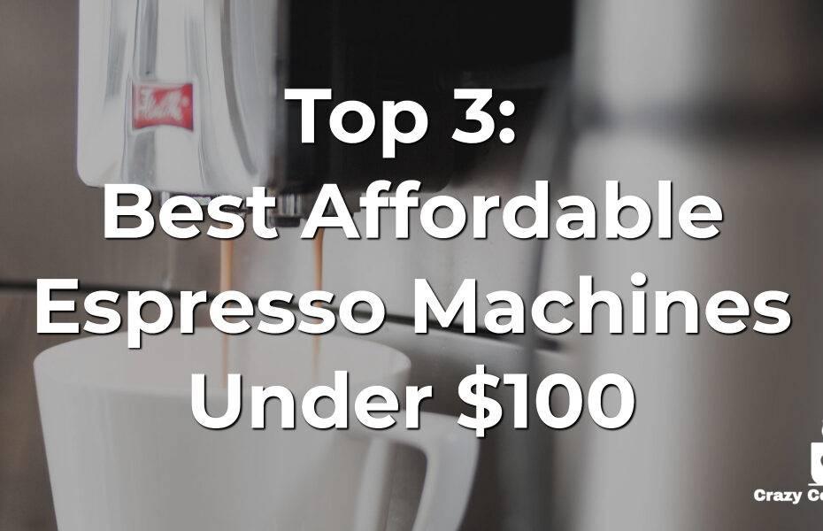 espresso machine under 100