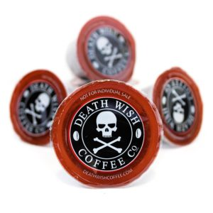 Death wish K-cups with high level of caffeine
