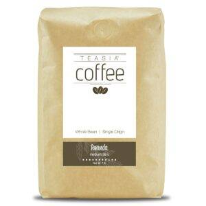 Teasia Coffee, Rwanda, Single Origin, Medium Dark Full City Roast, Whole Bean