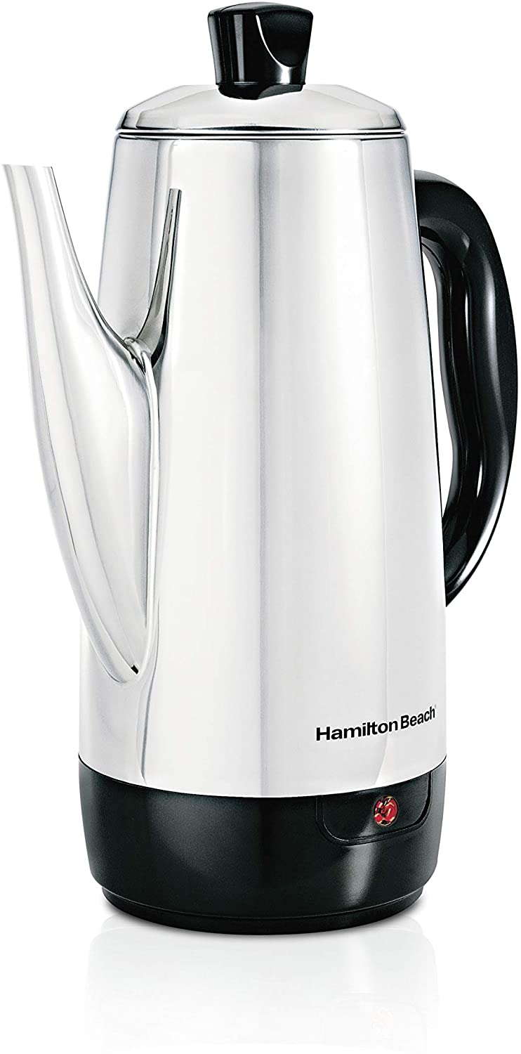 Hamilton Beach 40616 12-Cup Percolator with Cool-Touch Handle