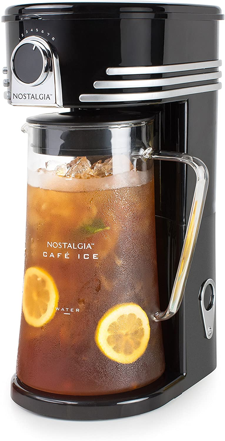 CI3BK Iced Coffee Maker and Tea Brewing System – by Nostalgia