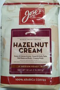Jose's Hazelnut cream Arabic coffee