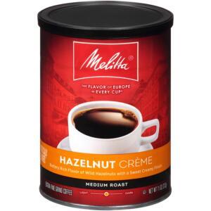 Melitta Hazelnut Crème Flavored Medium Roast Ground Coffee
