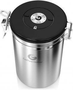 Coffee Gator Stainless Steel Coffee Canister