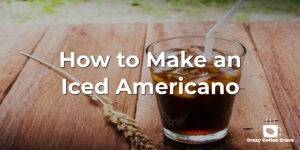 How to Make an Iced Americano