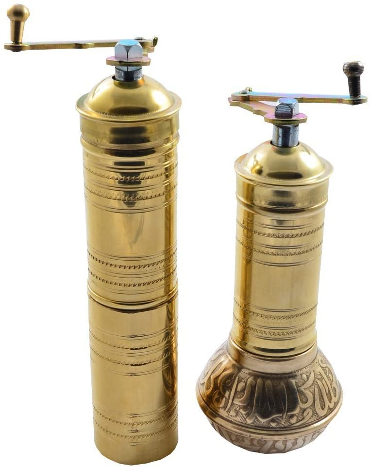 Manual Hand Grinder Mill SET for Turkish Greek Arabic Coffee Beans