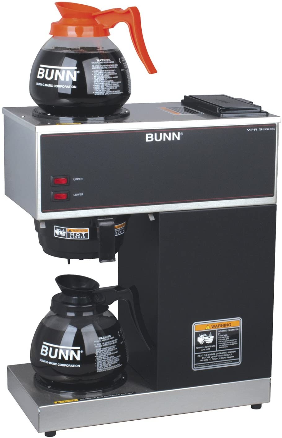 Bunn Pour Over Commercial Coffee Brewer with 3 Lower Warmers