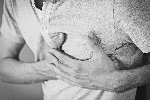 caffeine chest pain