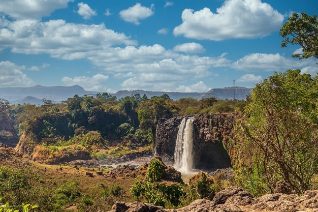 amazing shot blue nile waterfall ethiopia 181624 29509