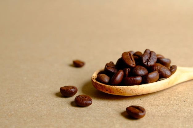 coffee beans wooden spoon 69110 79