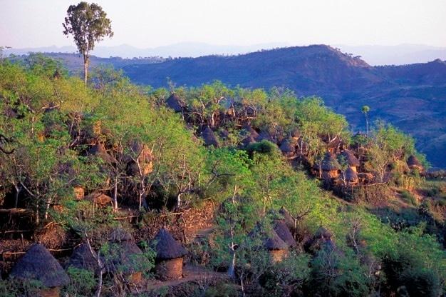 konso tribal mountain village hills ethiopia 19485 33645