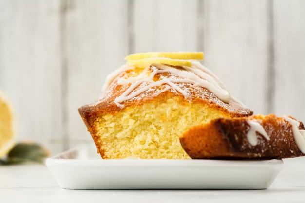 lemon cake loaf with white glaze 107389 1491