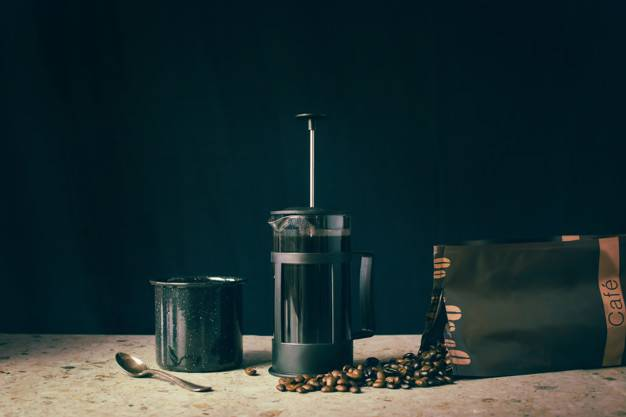 french press coffee beans cup 158360 1