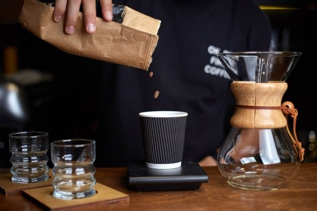 Chemex coffee measure coffee